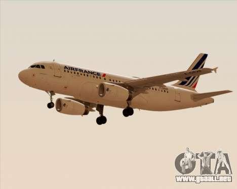 Airbus A319-100 Air France para la visión correcta GTA San Andreas