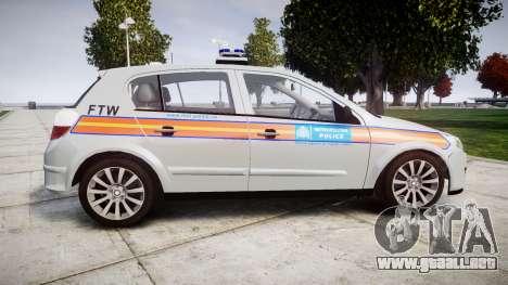 Vauxhall Astra 2009 Police [ELS] 911EP Galaxy para GTA 4 left