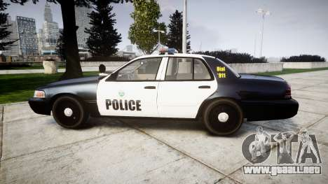 Ford Crown Victoria Ontario Police [ELS] para GTA 4 left