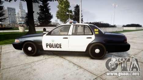 Ford Crown Victoria Ontario Police [ELS] para GTA 4 left