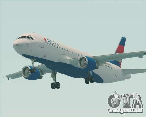 Airbus  A320-200 Delta Airlines para la visión correcta GTA San Andreas