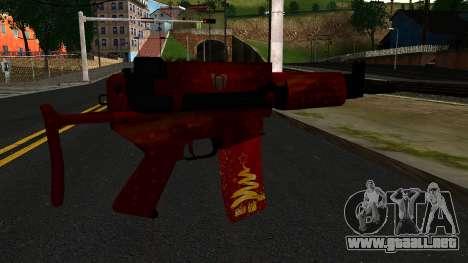 La Víspera de Año nuevo Rifle de Asalto 2 para GTA San Andreas segunda pantalla