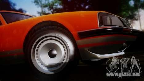 GTA 5 Lampadati Pigalle SA Plate para GTA San Andreas vista posterior izquierda