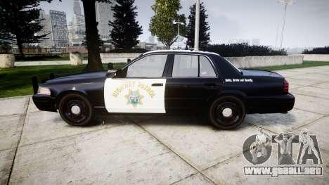 Ford Crown Victoria Highway Patrol [ELS] Slickto para GTA 4 left