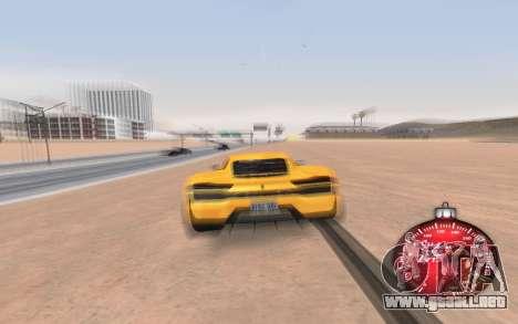 Navidad velocímetro 2015 para GTA San Andreas tercera pantalla