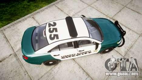 Ford Taurus 2014 LCSO [ELS] para GTA 4 visión correcta