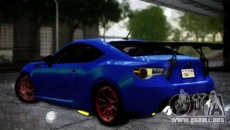 Subaru BRZ Drift Built para GTA San Andreas left