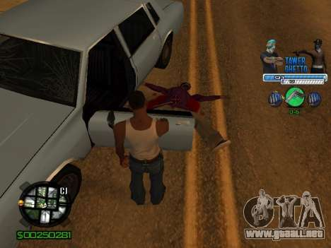 С-Hud Tawer-Gueto v1.6 el Clásico para GTA San Andreas séptima pantalla
