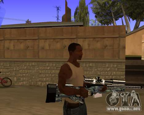 Blue Chrome Weapon Pack para GTA San Andreas quinta pantalla