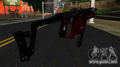 Navidad MP5 para GTA San Andreas segunda pantalla