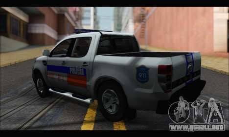 Ford Ranger P.B.A 2015 para GTA San Andreas left
