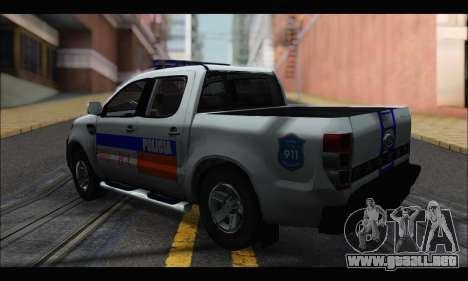 Ford Ranger P.B.A 2015 para GTA San Andreas left