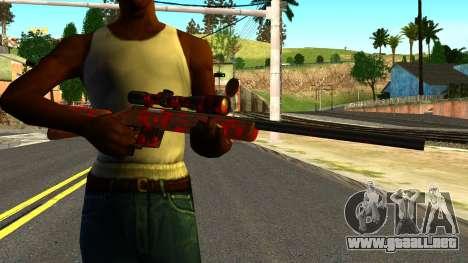Rifle with Blood para GTA San Andreas tercera pantalla
