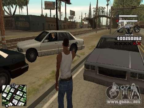 Nice C-HUD para GTA San Andreas segunda pantalla