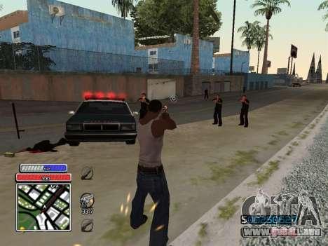 C-HUD Unique v4.1 para GTA San Andreas sucesivamente de pantalla