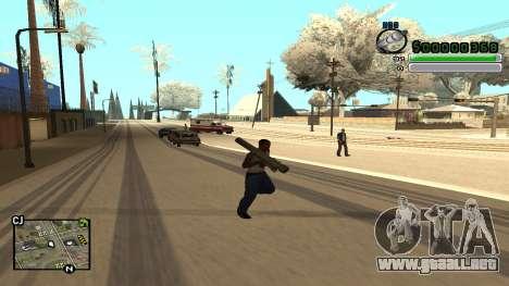 C-HUD v5.0 para GTA San Andreas sucesivamente de pantalla