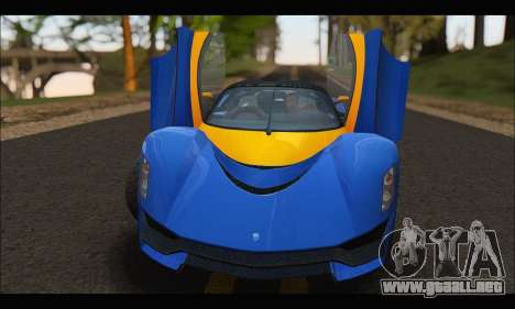 Grotti Turismo R v2 (GTA V) para GTA San Andreas vista hacia atrás