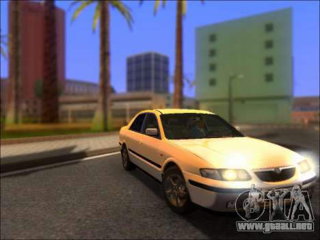 Mazda 626 para GTA San Andreas vista hacia atrás