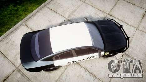 Dodge Charger 2015 County Sheriff [ELS] para GTA 4 visión correcta