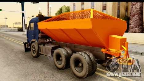 KamAZ 65115 Quitanieves para GTA San Andreas left