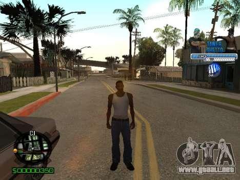 С-Hud Tawer-Gueto v1.6 el Clásico para GTA San Andreas quinta pantalla