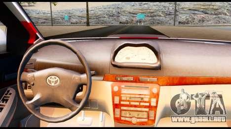 Toyota Vios TRD Racing para GTA San Andreas vista posterior izquierda