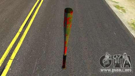 Baseball Bat with Blood para GTA San Andreas segunda pantalla