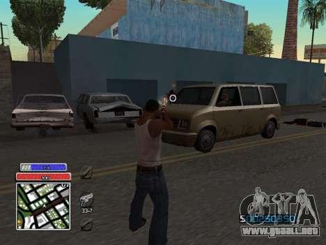 C-HUD Unique v4.1 para GTA San Andreas tercera pantalla