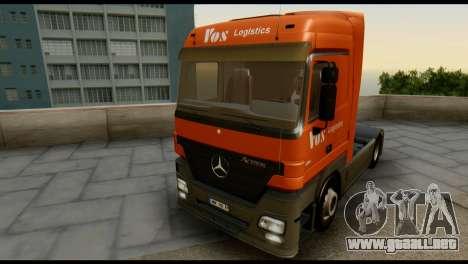 Mercedes-Benz Actros PJ1 para visión interna GTA San Andreas