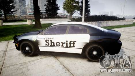 Dodge Charger 2015 County Sheriff [ELS] para GTA 4 left