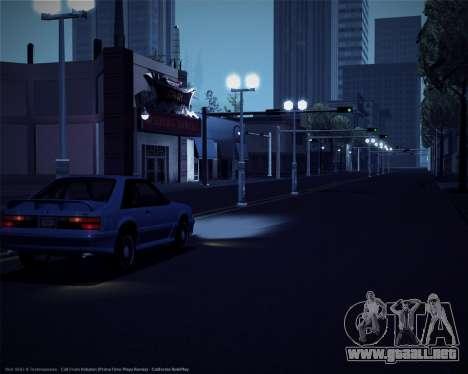 ENBSeries débiles y medianas PC para GTA San Andreas tercera pantalla