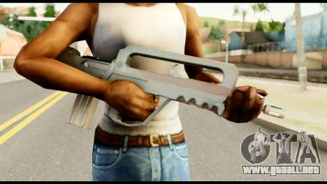 Famas from Metal Gear Solid para GTA San Andreas tercera pantalla