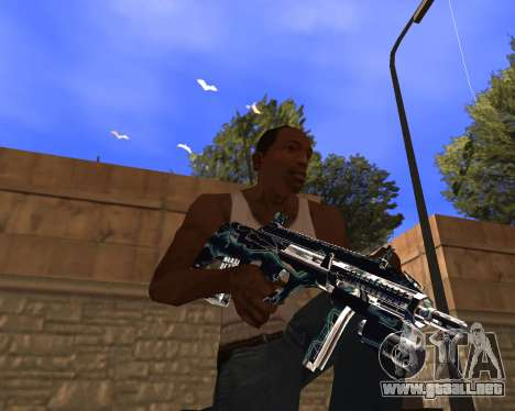 Blue Chrome Weapon Pack para GTA San Andreas