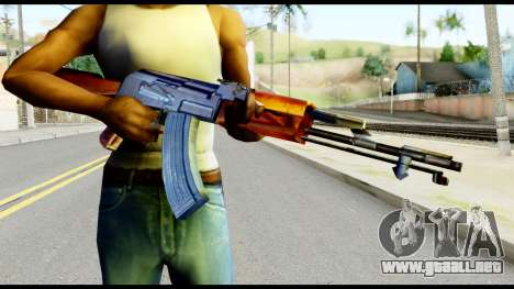 AK47 from Metal Gear Solid para GTA San Andreas tercera pantalla