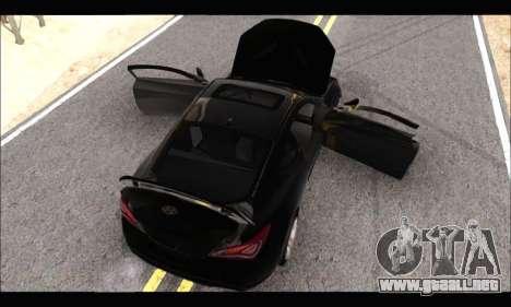 Hyundai Genesis Coupe 3.8 2013 para GTA San Andreas vista posterior izquierda