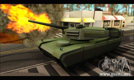 Retextured Rhino Tank para GTA San Andreas left