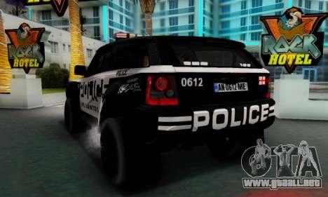 Bowler EXR S 2012 v1.0 Police para la visión correcta GTA San Andreas