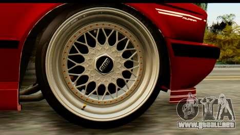 BMW M5 E34 Alpina para GTA San Andreas vista posterior izquierda