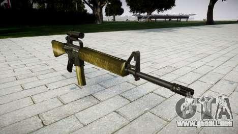 El rifle M16A2 [óptica] de oliva para GTA 4