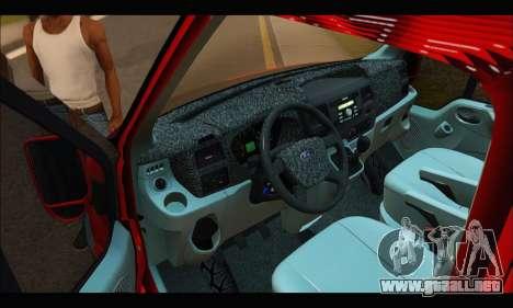 Ford Transit River para la visión correcta GTA San Andreas