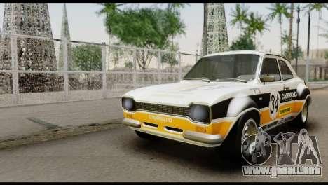 Ford Escort Mark 1 1970 para visión interna GTA San Andreas