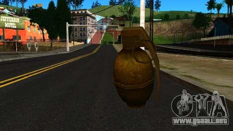 Grenade from GTA 4 para GTA San Andreas segunda pantalla