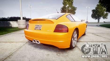GTA V Schyster Fusilade Tuning para GTA 4 Vista posterior izquierda