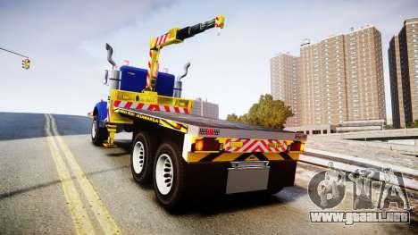 HVY Biff Indonesian Jasamarga Tow Truck [ELS] para GTA 4 Vista posterior izquierda