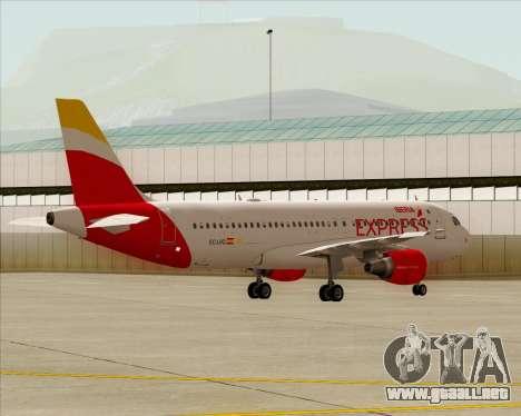 Airbus A320-200 Iberia Express para visión interna GTA San Andreas