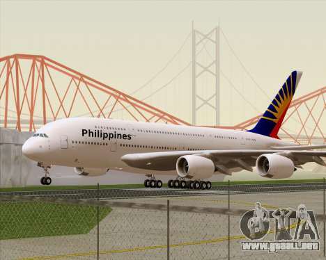Airbus A380-800 Philippine Airlines para GTA San Andreas left