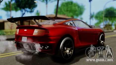 GTA 5 Dewbauchee Massacro Racecar (IVF) para GTA San Andreas left