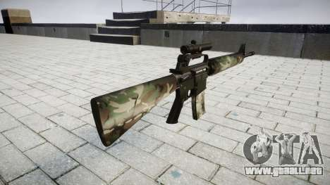El rifle M16A2 [óptica] woodland para GTA 4 segundos de pantalla