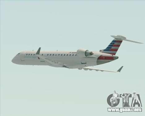 Bombardier CRJ700 American Eagle Airlines para las ruedas de GTA San Andreas