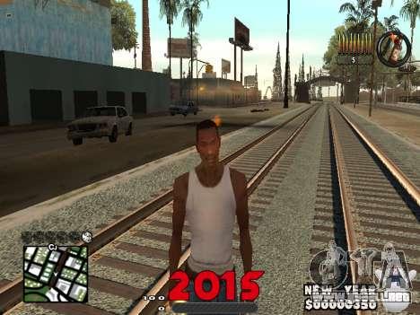 CLEO HUD New Year 2015 para GTA San Andreas